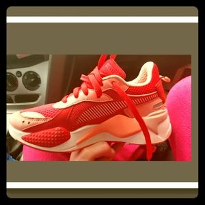 Womens PUMA RS-X Toys in pink and red